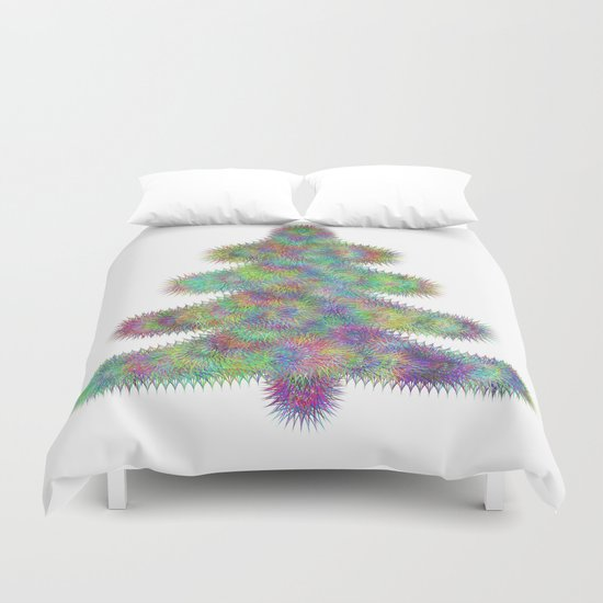 Fractal christmas tree Duvet Cover