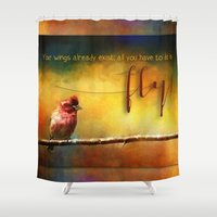 fly Shower Curtains featuring Fly by Ginkelmier