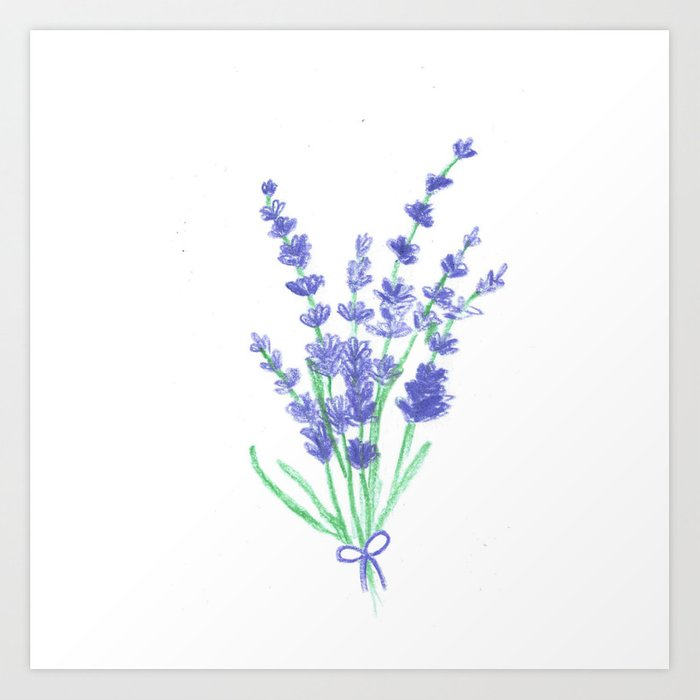 Lavender Flowers Hand Draw Art Print By Julli Society6