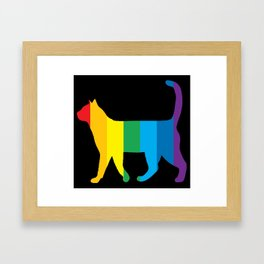 Rainbow Cat Framed Art Print
