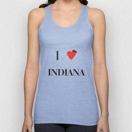 I heart Indiana Unisex Tank Top