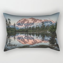 Cascade Sunset - Mt. Shuksan - Nature Photography Rectangular Pillow