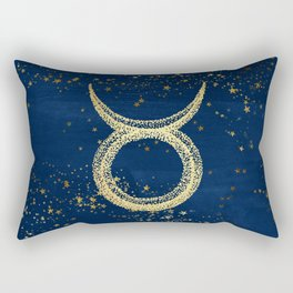 Taurus Zodiac Sign Rectangular Pillow