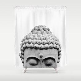 Shy Buddha Shower Curtain