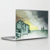 sailing Laptop & iPad Skins featuring Sailing by Brontosaurus