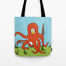 Eglantine la poule (the hen) dressed up as an octopus Tote Bag