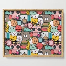 Fun Party Pattern Serving Tray