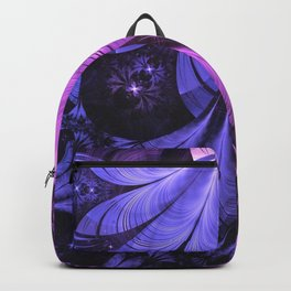 Beautiful Blue and Lilac-Violet Starling Feathers Backpack
