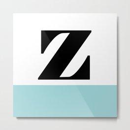 Monogram Letter Z-Pantone-Limpet Shell Metal Print