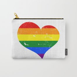LGBT - Lesbian Gay Bisexual Transgender Heart Support Homosexual Carry-All Pouch
