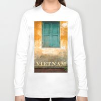 vietnam Long Sleeve T-shirts featuring Antique Chinese Wall - VIETNAM by CAPTAINSILVA