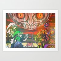 majoras mask Art Prints featuring Legend of Zelda Majoras Mask by LuisIPT
