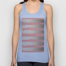 Painted Stripes Tahitian Gold on Coral Pink Unisex Tank Top
