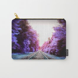 Train Tracks Bright Carry-All Pouch
