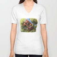 red hood V-neck T-shirts featuring Red Hood by Jose Luis Ocana