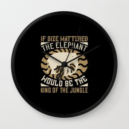 Elephant Quote - 19 Wall Clock
