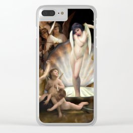 Bouguereau's Angels Surround Cupid Clear iPhone Case