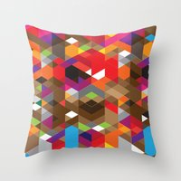 deadmau5 Throw Pillows featuring Life like a Geometry by Sitchko Igor