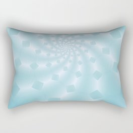 Tess Fractal in Frozen Blue Rectangular Pillow