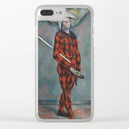 Harlequin by Paul Cezanne, 1888 Clear iPhone Case