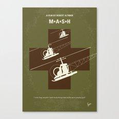 No733 My MASH minimal movie poster Canvas Print