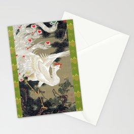 Jakuchu Phoenix with Paulownia Background Stationery Cards