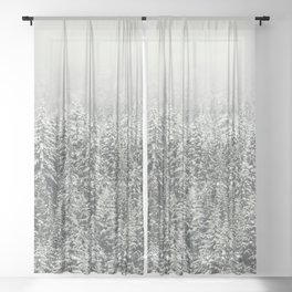 Snow Forest Sheer Curtain