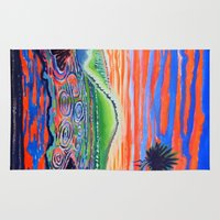psychadelic Area & Throw Rugs featuring  Surf Art Psychadelic  by Surf Art Gabriel Picillo