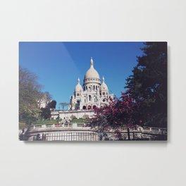 The Sacre Coeur Basilica - Paris Metal Print