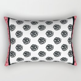 Framed scribble polka dots Rectangular Pillow