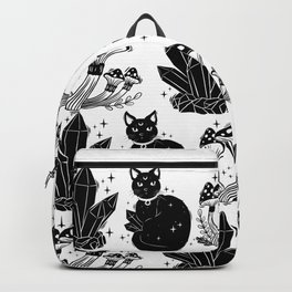 magic cat pattern, witch cat pattern, halloween cat pattern Backpack