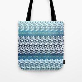 Abstract Ocean Waves Pattern Tote Bag
