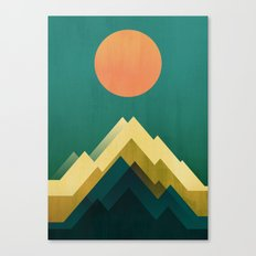 Gold Peak Canvas Print