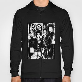 Alternative fashion and leather jacket style at the club Hoody