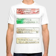 Ministerios 1984 MEDIUM Mens Fitted Tee White
