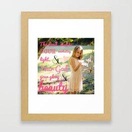 Incorruptible Beauty (scripture) Framed Art Print