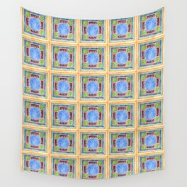 Green Lemons Wall Tapestry