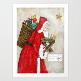 old time santa Art Print