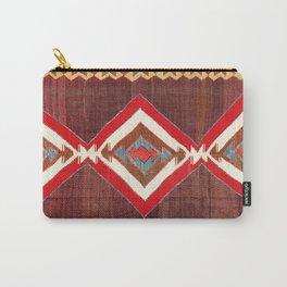 Aksaray Cappadocian Central Anatolia Kilim Print Carry-All Pouch