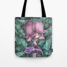 Fat Purple Butterfly  Tote Bag