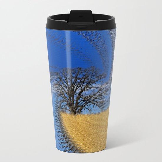 Prairie oak swirl Metal Travel Mug