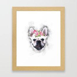 Frenchie Bulldog Framed Art Print