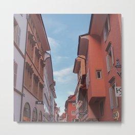 Zurich Alley III Metal Print