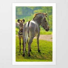 Mom and Son Art Print