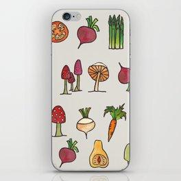 Vegetable Mushroom Fruit Pattern iPhone Skin