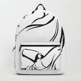 The Moment I First Heard Love I Gave Up My Soul Rumi Quote Backpack