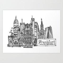 Busy City – Frankfurt am Main Art Print