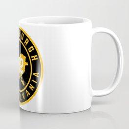 Pittsburgh Pennsylvania Steel City Map 412 Home Pride Coffee Mug