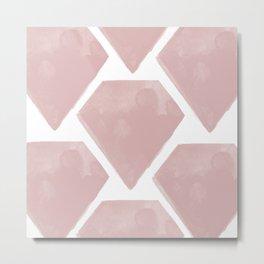 Pink Diamonds Pattern Metal Print