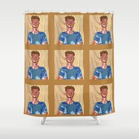 mac Shower Curtains featuring Mac by Probably Plaid